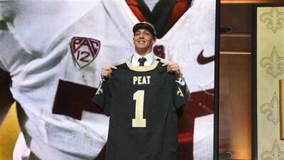Selección #13, los Saints se fueron con Peat Andrus,  OT de Stanford (AP...