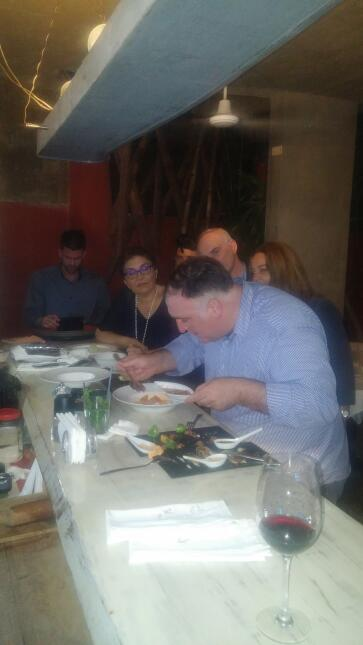 Jose Andres tasting dishes in Cuba at Casa Pilar
