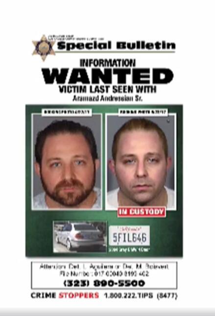 Autoridades presentaron dos fotos del acusado, Aramazd Andressian Sr. El...