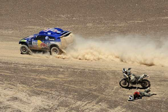 La cuarta etapa del Rally Dakar 2011 cruzó la Cordillera de los Andes y...