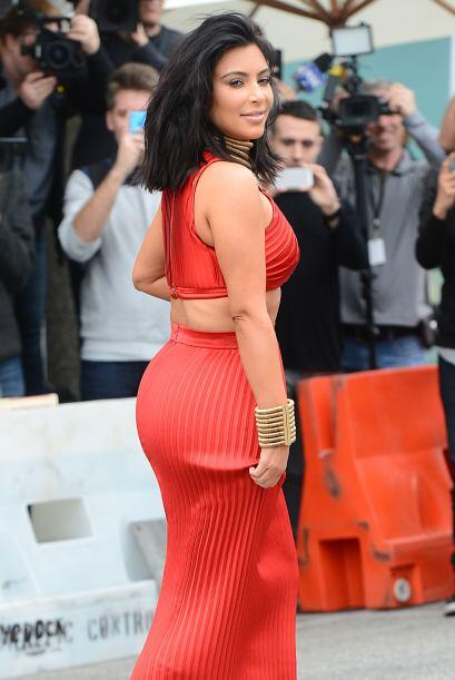 Kim sí que mostró su mejor ángulo.