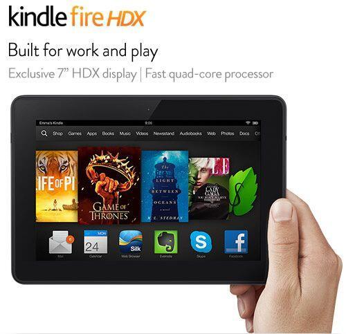 Amazon Kindle Fire HDX, $230 (de 7 pulgadas, 16 GB, con acceso a Wi-Fi)....