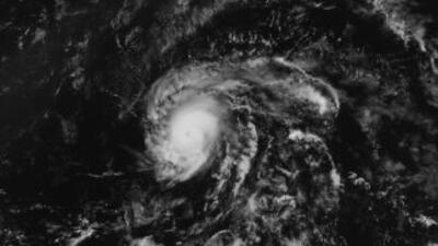 Imagen desde el espacio del huracán Danny.