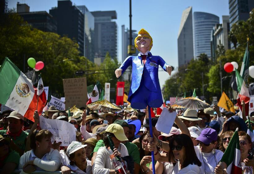 Marcha contra Trump CDMX