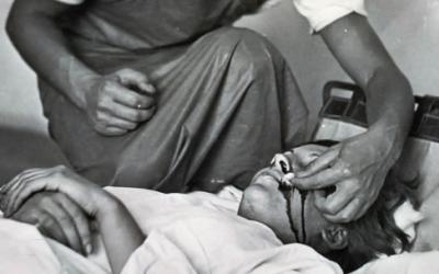 La imagen del Dr Kyzsely en la guerra española.
