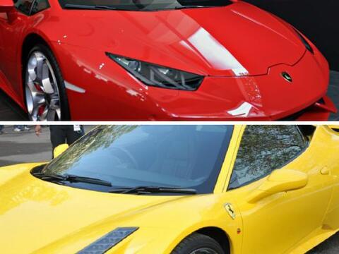 Lamborghini vs. Ferrari pieza por pieza, Chivas vs. América en el...
