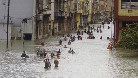 La Habana bajo el agua.