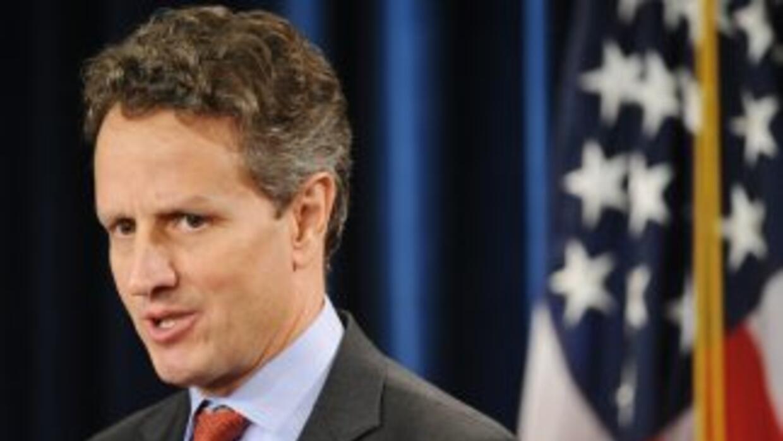 El secretario del Tesoro de Estados Unidos, Timothy Geithner, suena como...