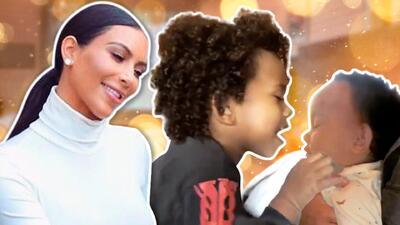 Internet se derrite con los besos de Saint (hijo de Kim Kardashian) a su recién nacida hermanita Chicago