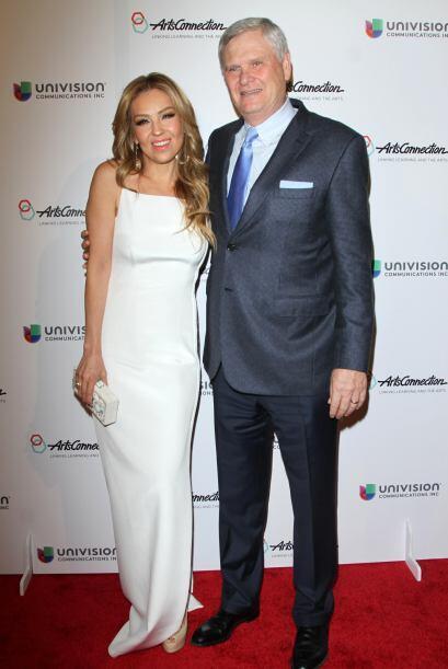 Ahí se rindió homenaje a Randy Falco, directivo de Univision.