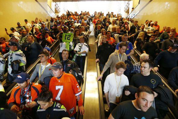 Así lucen los medios de transporte hacia el Estadio MetLife (AP-NFL).