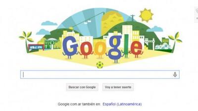 Google dedicó su doodle a la Copa del Mundo.