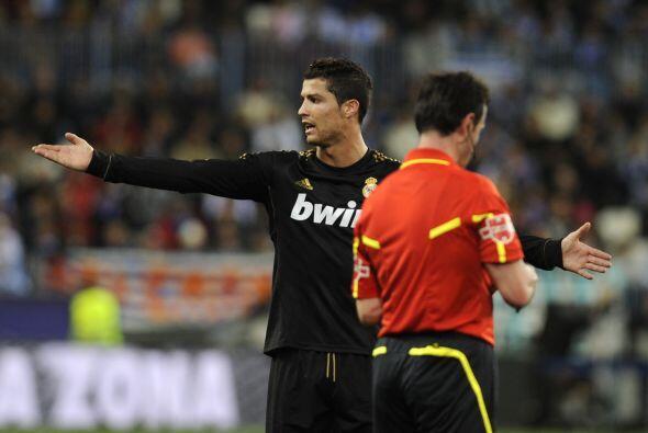 Cristiano seguía en su duelo personal en busca de un gol.