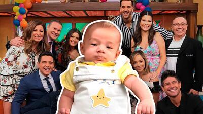Más adorable imposible: el bebé Liam se robó el show detrás de cámaras en Despierta América (y todos babeando)