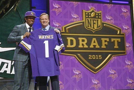 Michigan State aportó a los Minnseota Vikings su CB Trae Waynes (AP-NFL).