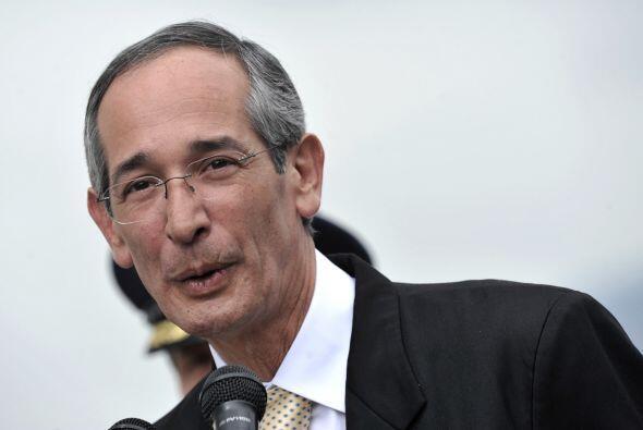 Álvaro Colom, mandatario guatemalteco.