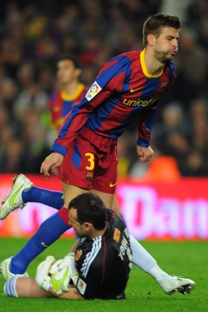 Shakira hubiese festejado el gol del central del Barcelona.
