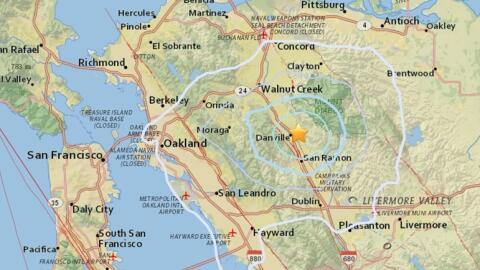 En la zona de Danville, en el norte de California, se han registrado más...