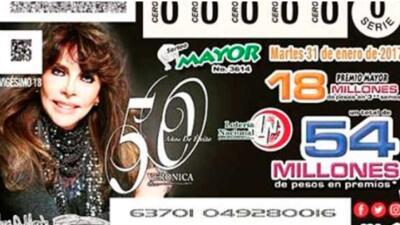 Los boletos con la imagen de Verónica Castro conmemoran sus 50 a&...