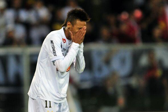 ´Qué verguenza el gol que me perdí´ (Neymar) Y sí, la estrella del Santo...