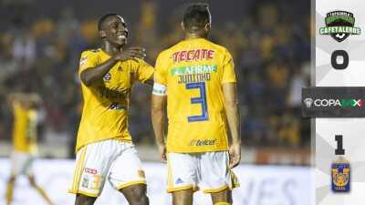 Juninho da pase a Tigres a la Fase Final de la Copa MX al vencer a Cafetaleros