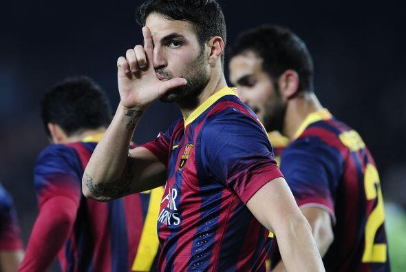 El catalán mandó la pelota a la esquina contraria del portero del 'Geta'.
