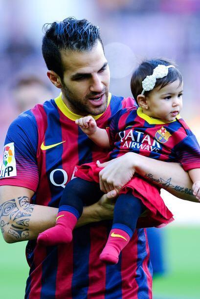 Cesc Fábregas es un orgulloso papá que no pierde oportunidad para presum...