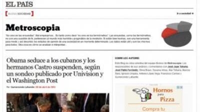 El País recogió la encuesta de Bendixen & Amandi para Univision Noticias...