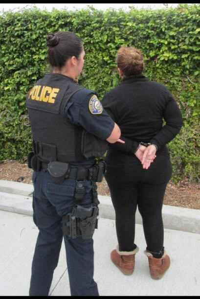 Los detenidos fueron identificados como   Hilda Saucedo, 40, Sylmar, CA...