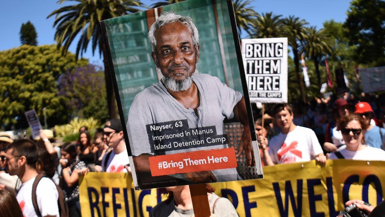 El 5 de noviembre de 2016, una multitud marchó en Sidney, Australia, par...