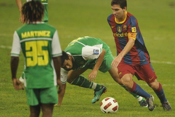 Messi tuvo más de una oportunidad de anotar, pero su gol no llegó.