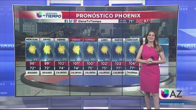 Temperaturas cálidas en Phoenix