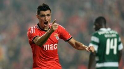Oscar Cardozo, en su mejor etapa como jugador del Benfica.