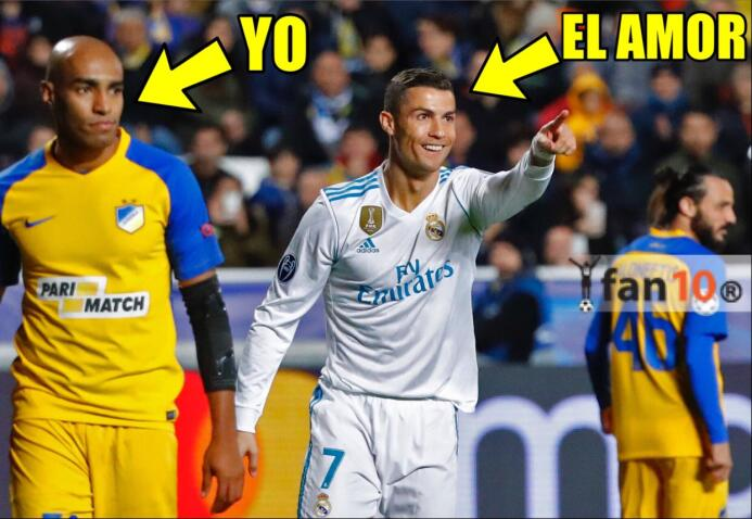 Real Madrid y CR7 golearon en la Champions y en los memes dpl5ekmvwaapda...