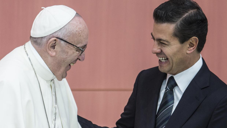 Francisco es el primer Papa que visita el Palacio Nacional.