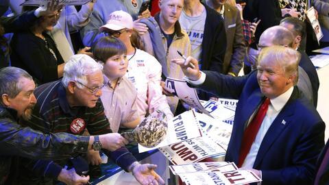 Donald Trump en un evento de campaña en Biloxi, Mississippi