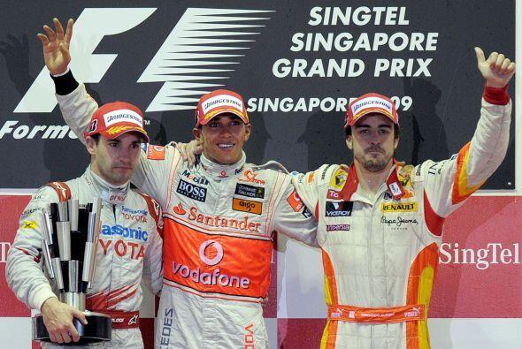 El Gran Premio de Singapur fue el único podio que logró el español en la...