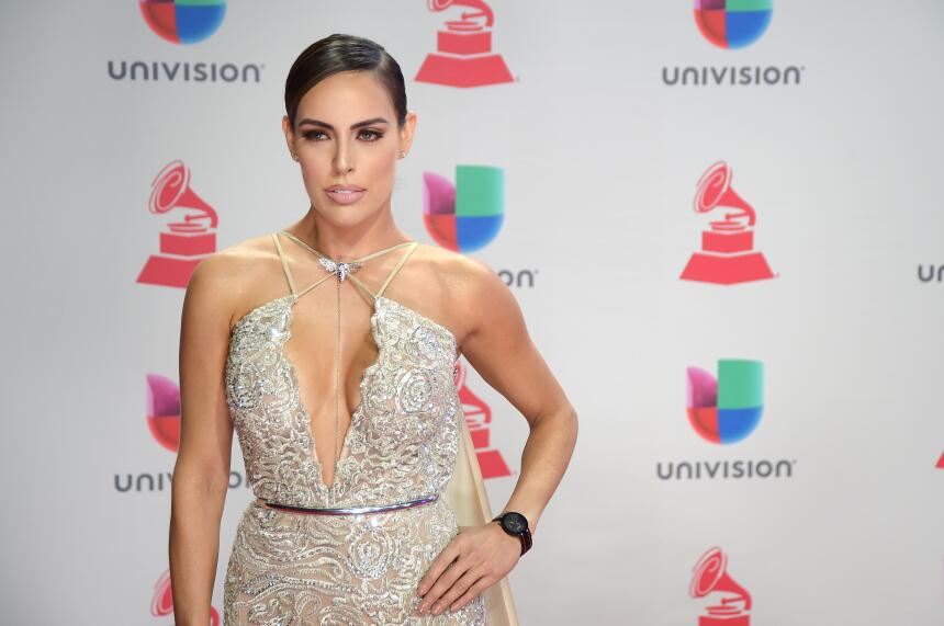 Sara Corrales attends the 18th Annual Latin Grammy Awards at MGM Grand G...