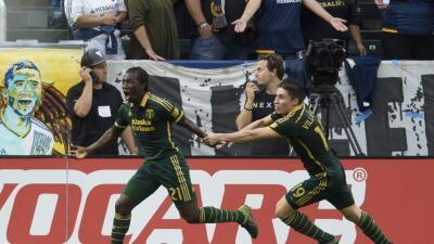 Portland Timbers celebra su goleada ante LA Galaxy