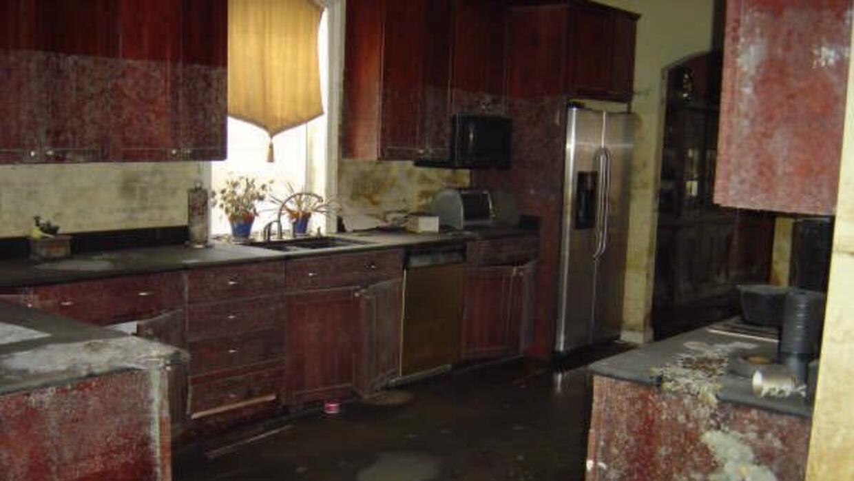 Así quedó la cocina de la casa de Leidys luego del paso de...