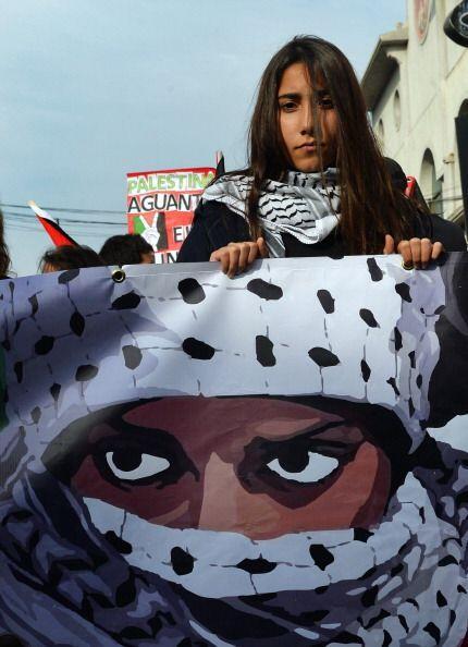 En Chile, unas diez mil personas participaron en una manifestación pacíf...