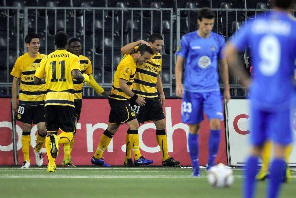Finalmente, el Getafe español cayó en su visita al Youg Boys suizo por 2-0.