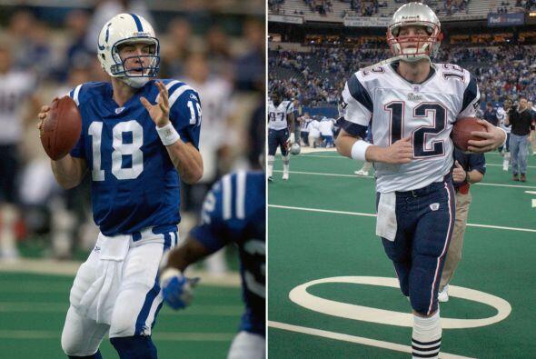 3.- 30 de noviembre del 2003.- Peyton Manning lanzó cuatro touchdowns co...