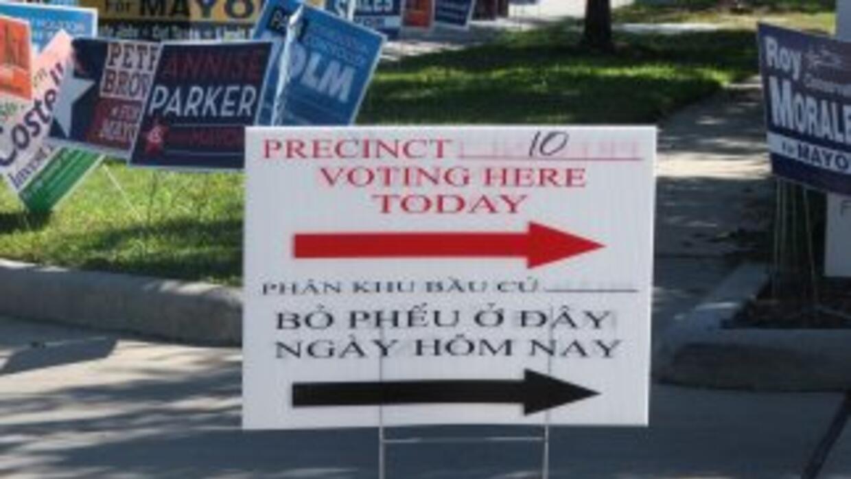 Ambiente electoral en Houston.