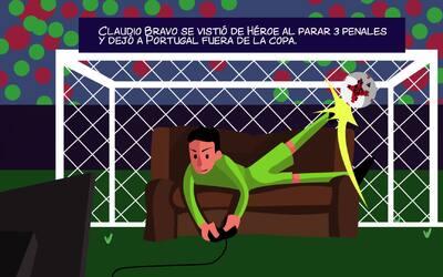 Copa Comic: Claudio Bravo el superhéroe chileno que hizo llorar a 'CR7'