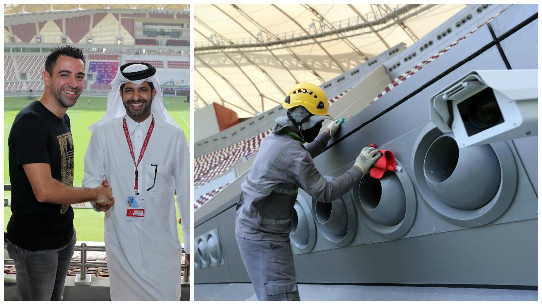 Se creía imposible, pero Qatar ya inauguró su estadio con aire acondicio...