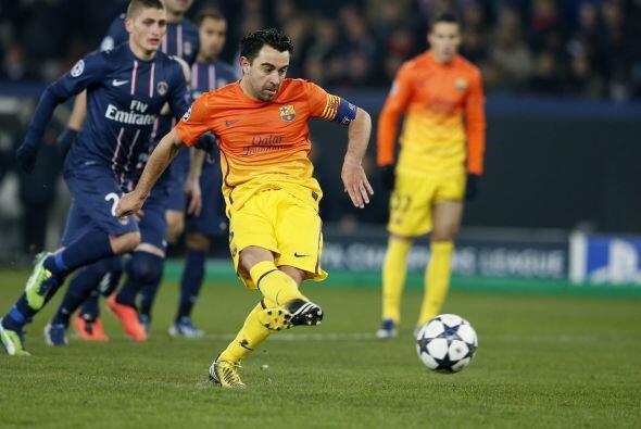 Xavi cobró y puso otra vez al Barcelona arriba.