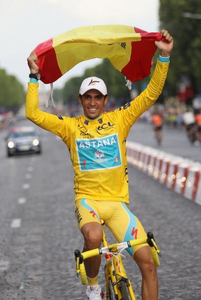 El ciclista español, Alberto Contador, ganó por tercera vez el Tour de F...