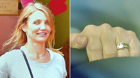 Cameron nos presumió por fin su anillote.