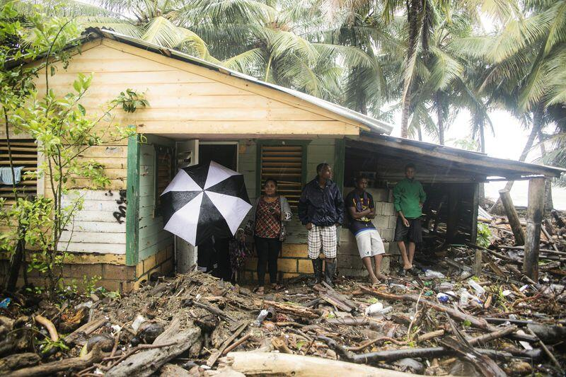 Dominican and Haitian authorities reported flooding and minor damage in...